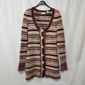 Sleeping on Snow striped wool blend cardigan